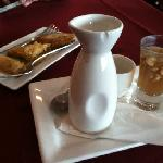 hot mint tea with walnuts and baklava