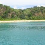 Praia do Sancho - vista do barco