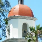 Church bell tower next to mission