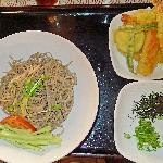 Zaru soba and tempura