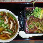 Noodles and poke salad