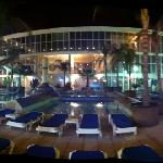 night time drinks round the pool