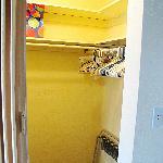 closet, lots of hangers