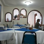 Inside the restaurant (El Güero), clean and with A/C.