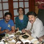 Mammootty & Dhulkar with Roopa George at Tokyo Bay