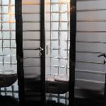 Hotel lobby public restroom