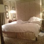 La cama,grande y comoda