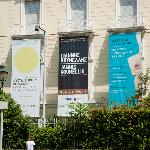 Museum Day&Night 2012, Jannis Kounelis, and permanent collections banners, Vasilissis Sofias Av.