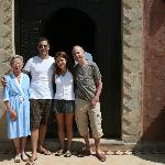 Myself, my boyfriend and our new Moroccan family, Bruno and 'Grand-mere'