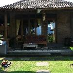 Big bungalow outside