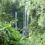 looking down on main waterfalls