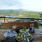 Dinner and view from restaurant at Knin Fortress