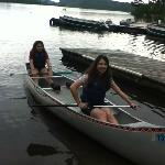 Enjoying the canoes
