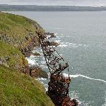 Wreck of the Samson viewed from the Ardmore Cliff Walk