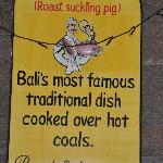 Babi guling promo on the wall