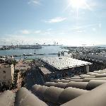 Blick auf den Hafen von Grau