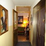 Hallway with beautiful art
