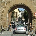 Driving through the Porta San Niccolo