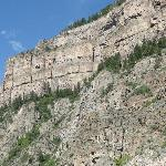 Cliffs over the river