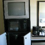 tv,fridge and microwave
