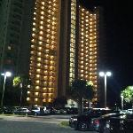 night view of condo