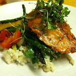 Peach Glazed Wild Salmon
