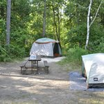 site with 2 tents at north nicolet