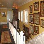Tasteful upstairs hallway