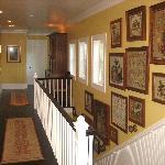 Tasteful upstairs hallway