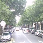 street where the hotel is located