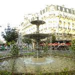 beautiful square near hotel
