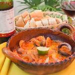 Cazuela de mariscos en salsa de langosta