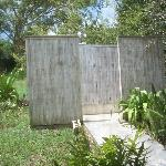 Outdoor showers at Casa Nueva
