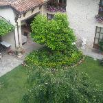 Looking down from our room to courtyard