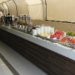 Mesa do café da manhã (c/ tapioca feita na hora!)