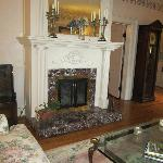 Fireplace downstairs