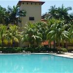 Condotel pool area