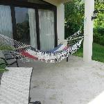Downstairs bedroom with private hammock