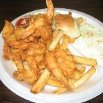 Fried 8 Jumbo Shrimp with Fries