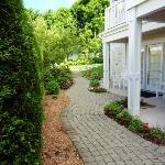 Garden path leading to the Guest House