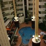 View of hotel interior from level 5