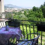 vista dal balcone pettirosso