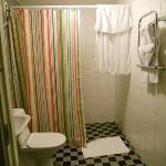 bathroom with heated towel bar and heated floors