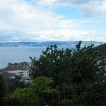vista del lago Lemano dal terrazzo