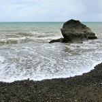 Beach just opposite Monte Karlo