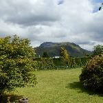 View from the Bedroom of the garden & Ben Nevis