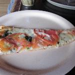 Yummy slice of veggie/garlic