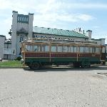 The trolley bus outside the information centre