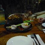 Vorspeise im Restaurant 50 Meter entfernt - zu empfehlen