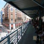 Terrace over the Victor Hugo market